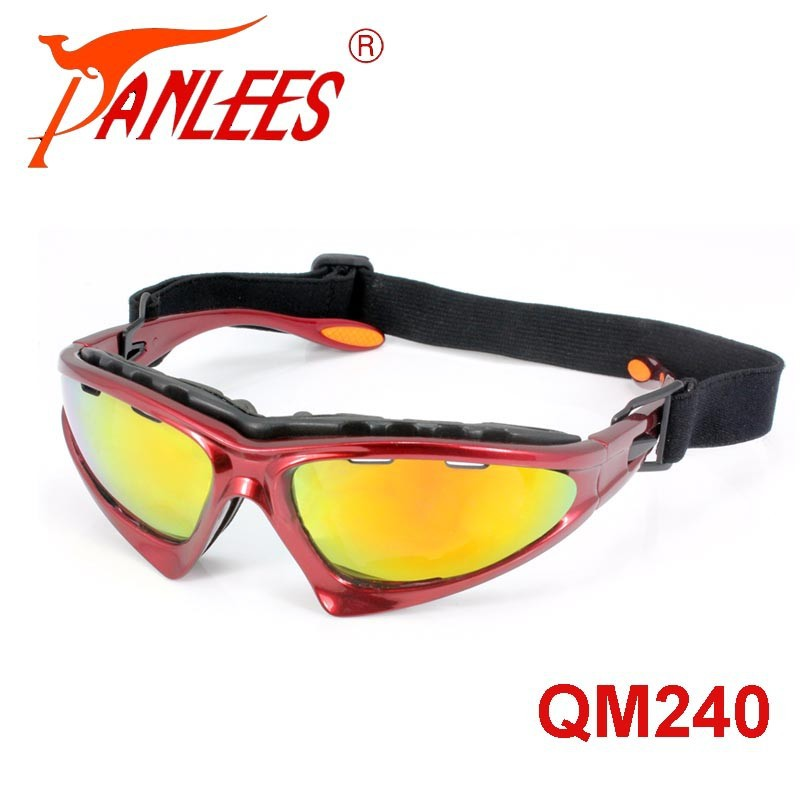 Panlees Padded Wind Resistant Sunglasses Motorcycle Riding Safety Glasses