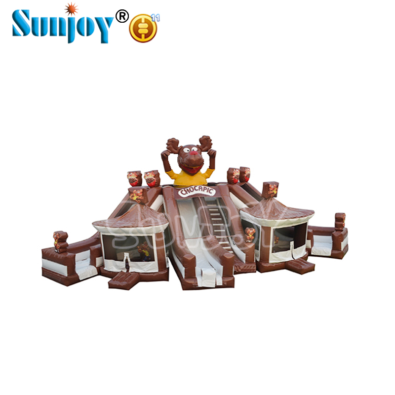 On sale indoor outdoor games new products high quality commercial inflatable playground fun city bouncer castle amusement park