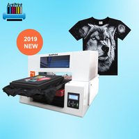 Professional textile double heads t-shirt dtg quality tshirt printer with CE certificate