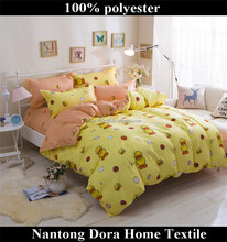 naughty little yellow duck printed polyester home sense comforter sets from nantong supplier