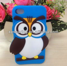 Owl designed For iphone 4 mobile phone silicone cover case