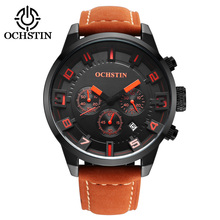 New Trend OEM Stainless Steel China Supplier Genuine Leather Strap Wrist Watch Luxury Men Sports Quartz Watches