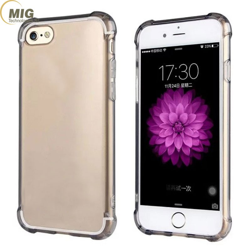 Drop Resistant Transparent Clear Soft Rubber TPU Case Shockproof Protective cell Phone Cover for iphone7 Case