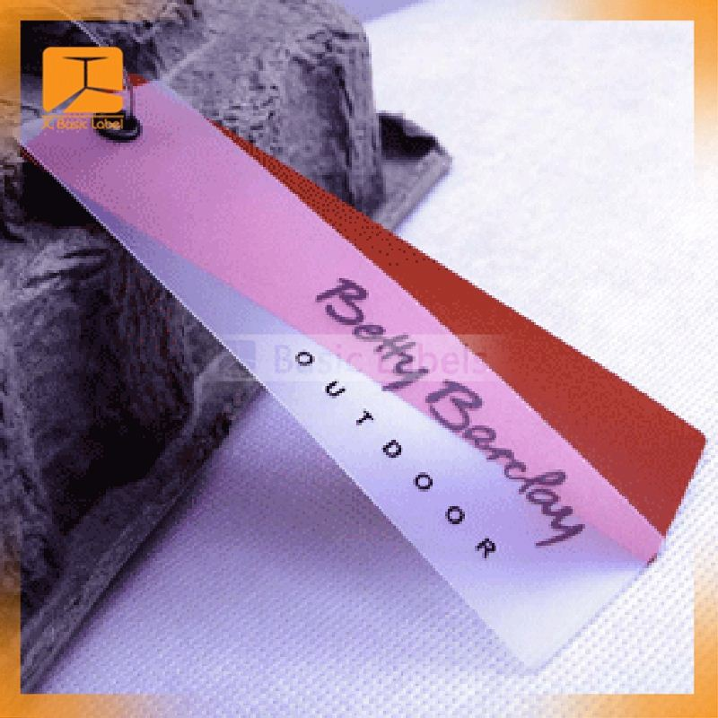 PVC/PET/PP plastic hang tag for garment/electronics/tool/jewelry