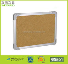 60*90cm Double Sided Wall Mounted Cork Board Bulletin Board Pin Noticeboard With 5-6pcs Pins