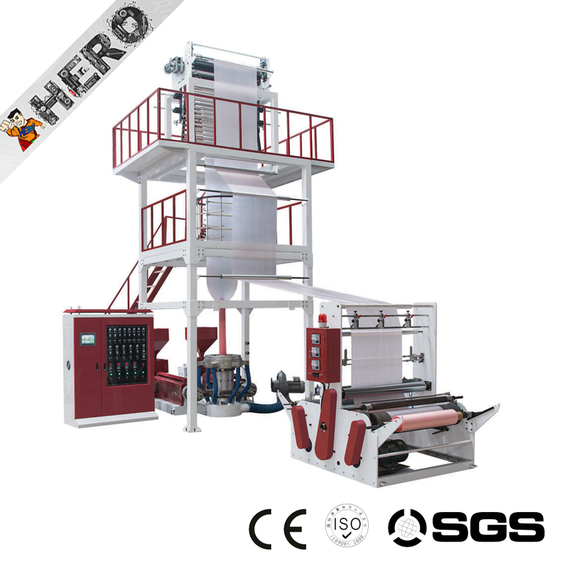 High speed rotary head Plastic PE film blowing machine pp pe film recycling pelletizing extruder