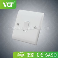 Top material OEM provide uk type 250v 10a electric switch