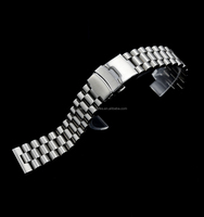 Wholesale solid stainless steel watch strap flat end fit for skx diver watch