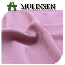 Mulinsen Textile 2017 Solid Dyed Polyester Faille Crepe Dobby Georgette Natural Woven Fabric