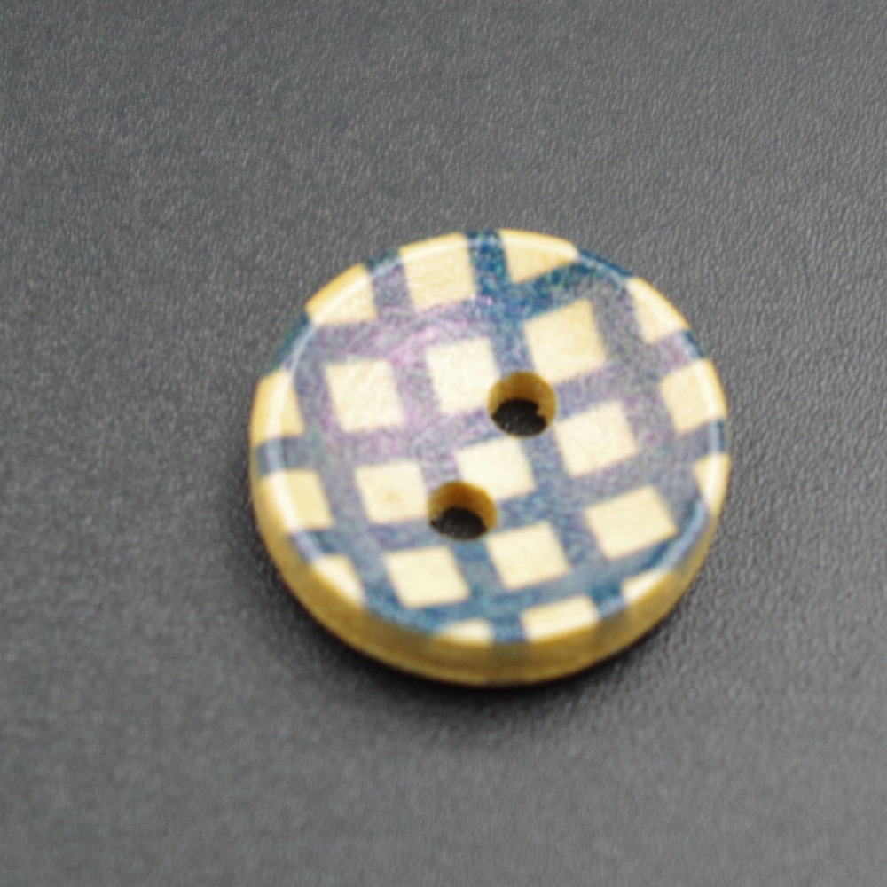 2 holes custom stripe real wooden button for shirt