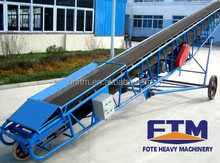 High efficiency tilted conveying system conveyor belt for stone crushing line