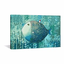 Diy Oil Painting Digital Printing Paint by Number Kit Big Fish House