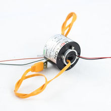 Through Bore Slip Rings, MT012, 2~128wires(circuits) small induction motors