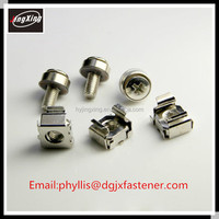 Stainless steel cage nut/galvanized steel M6 cage nut