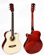40 inch cutaway acoustic guitar with linden body
