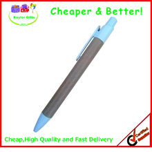 Hot sales Factory price click logo pen hard paper barrel pen Eco recycled paper pen