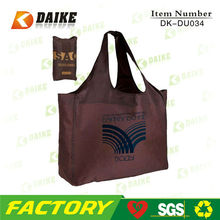 Wholesale Cheap Custom Eco polyester long handle shopping bag DK-DU034