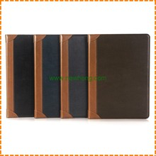 Retro Vintage Book Design PU Leather Case for iPad 6 Air 2