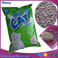 Meipeng Bentonite cat litter fragrance /super caking cat sand OEM