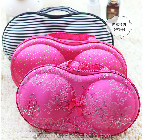 bra shaped bag and bra travel case