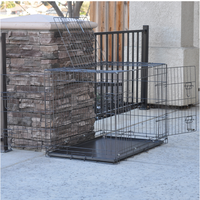 Playgroud setting dog kennel cages galvanized metal wire portable dog run gate panels for your choose