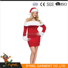 PGWC0578 Sexy Christmas Costumes Red Santa Costumes For Woman Carnival Party Wear Dress
