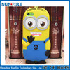 2015 New Yellow Minion 3D Silicone Case for iPhone 6 Cartoon Minion Case
