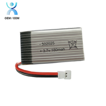 502025 3.7v 180mah lipo battery, li-polymer 3.7v 180mah for rc toy