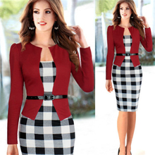 HFR-AN236 Europe 2015 new design ladies office wear dresses dress