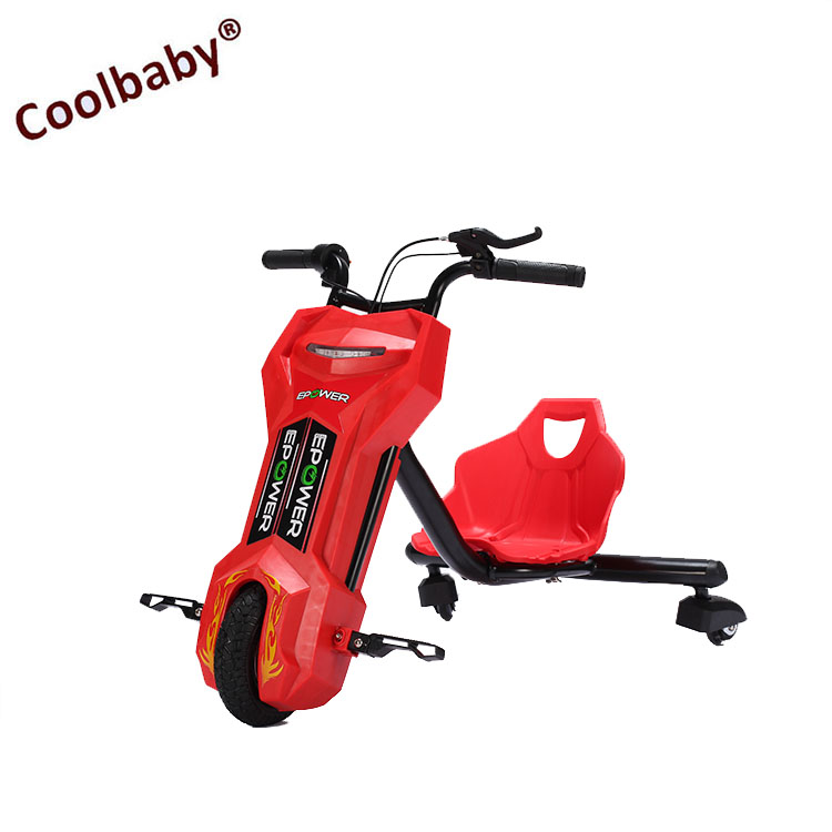 COOLBABY New 3 Motorized Big Wheel Electric Dirfting Scooter Crazy Kids Bikes Drift Trike For Children