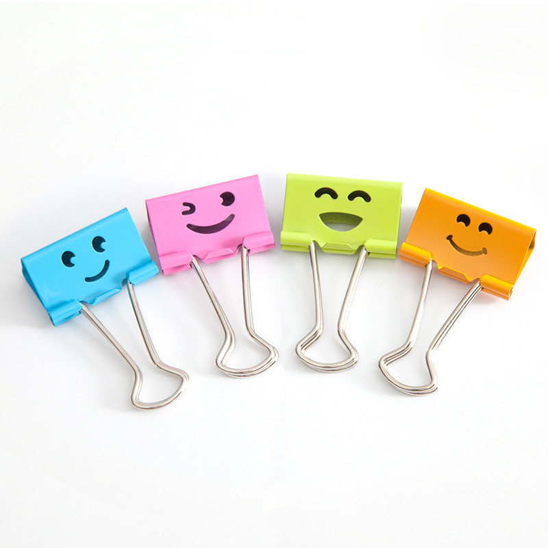 Smiling Binder <strong>Clips</strong> ,19mm ,Assorted Colors ,40 <strong>Clips</strong> per Tub