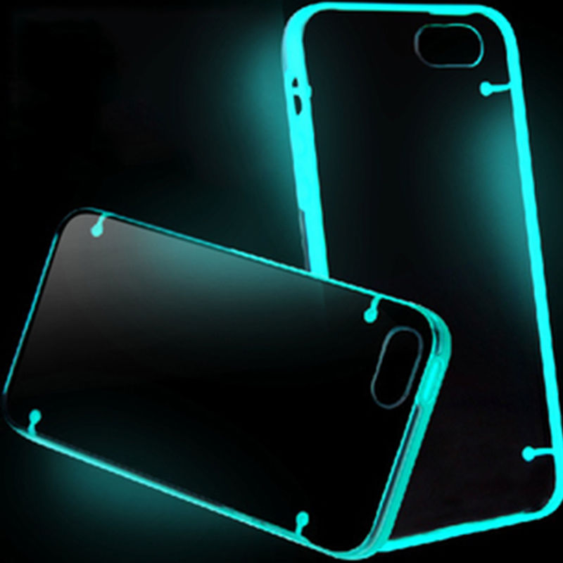 Clear Luminous Style Glowing in Dark Hard back Silicone Case For <strong>iPhone</strong> 7 4.7 inch