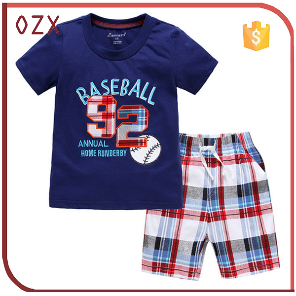 european style casual beach suit 2016 kids summer clothes boys clothes