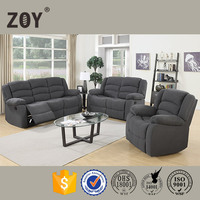 Modern Living Room Fabric Motion Recliner Sectional Sofa Set 3 2 1 Single For Sale,buy sofa from China 98240