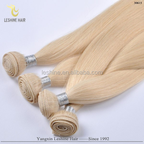 Competitive Price Fabulous Healthy Double Weft Tangle Free pure white hair extensions