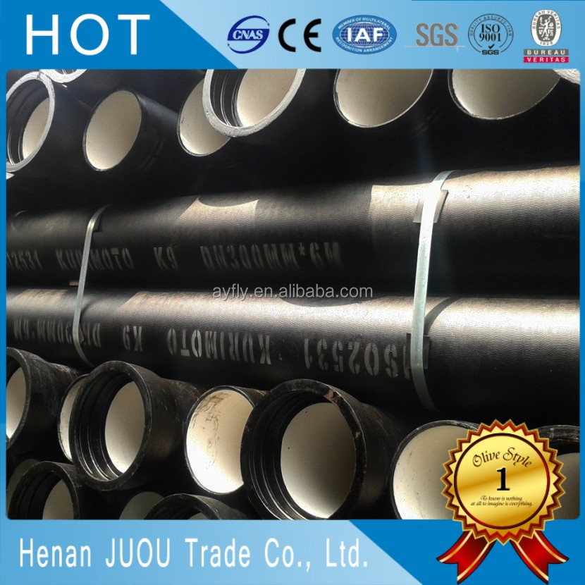 ISO2531 lined ductile iron pipe rates for gas oil