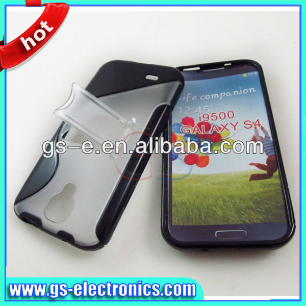 S type TPU+PC case with stand for Sumsung galaxy S4 I9500