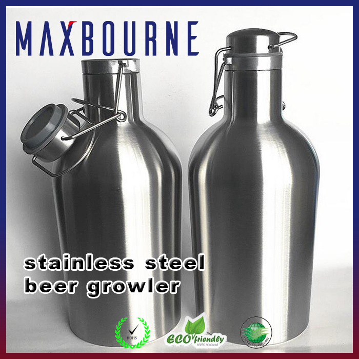 hotselling double wall 304 stainless steel 64-oz Insulated Craft Beer Growler bottle