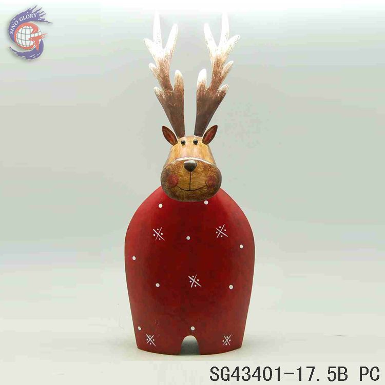 metal handcraft animal of Xmas elk for christmas adornment