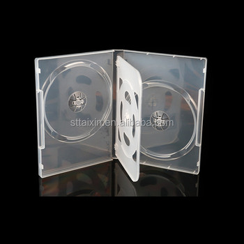 plastic 22mm dvd case clear 4 dvd