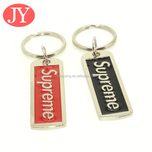 New arrival Black and red enamel epoxy custom make your own logo metal key chain