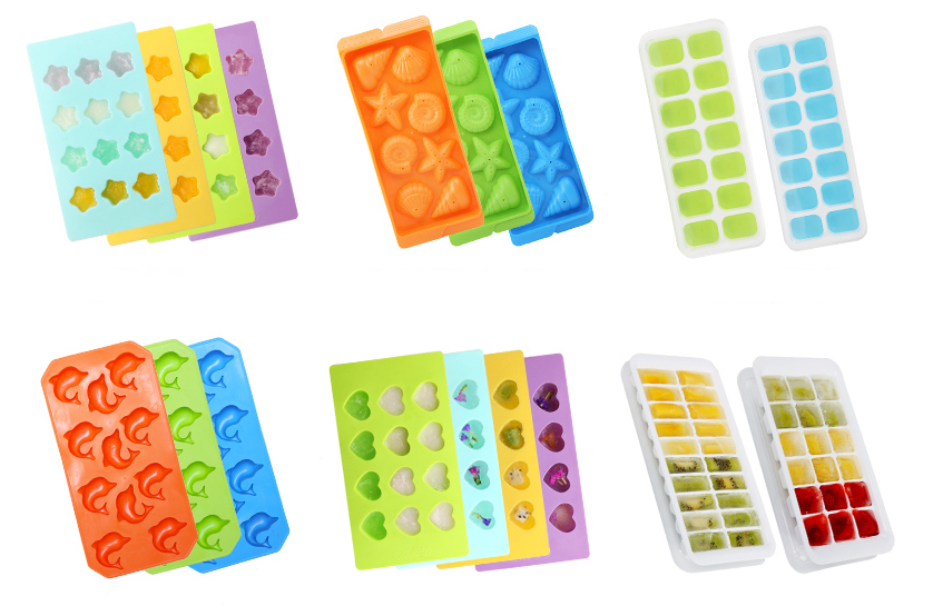 China wholesale silicone ice cube tray with lid for ice cube tray storage