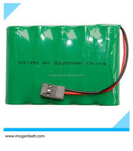 Rechargeable Batteries 6 V AA 2200mAh NiMH Battery Pack 6V Nimh Battery Pack