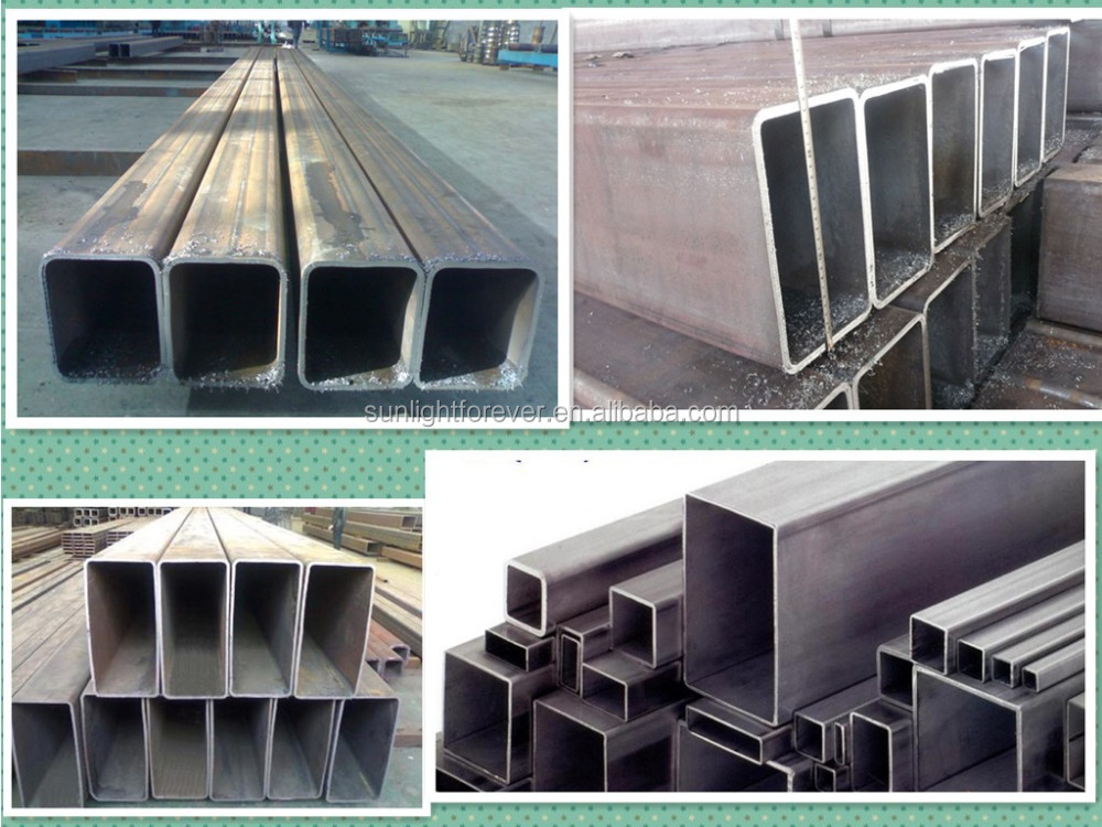 Chinese galvanized steel rectangular tube pipe products