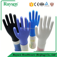 Latex free High Quality 3.5g Nitrile exam Gloves blue white black and violet color