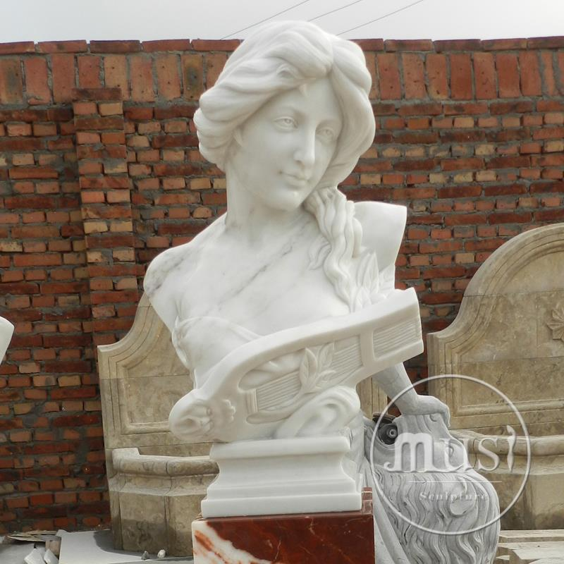 cheap white marble stone contemporary bust sculpture