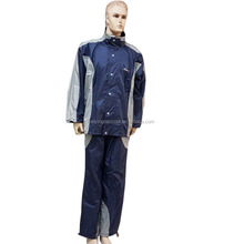 High quality Nylon motorcycle raincoat reflective rainsuit