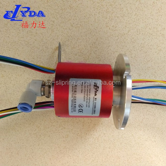 flyda 10 mm through hole slip ring/rotary joint for liquids/hydraulic pneumatic