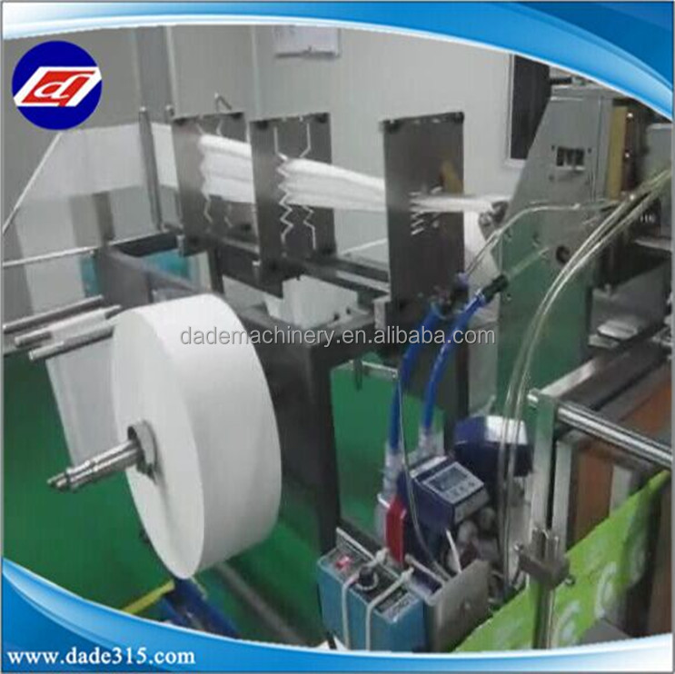 Automatic Plastic Wet Towel Horizontal Flow Packing Machine