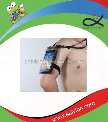 waterproof cell phone bag/small pvc bag waterproof/mobile phone arm bag
